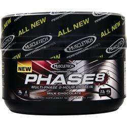 MUSCLETECH Phase 8 - Multi Phase 8 Hour Protein Milk Chocolate Exp 7/15 .36 lbs