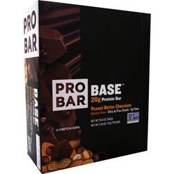 Pro Bar Base Bar Peanut Butter Chocolate 12 bars