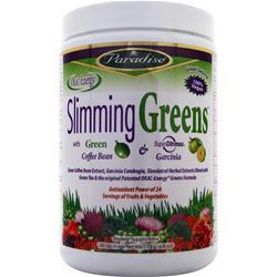 PARADISE HERBS Slimming Greens with Green Coffee Bean & Garcinia 6.4 oz