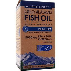 Wiley's Finest Wild Alaskan Fish Oil - Peak EPA 60 sgels