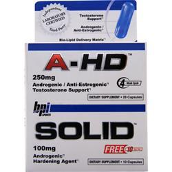 BPI A-HD (250mg) with free Solid sample 28 caps