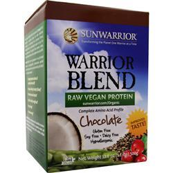 SUNWARRIOR Warrior Blend - Raw Protein Chocolate 500 grams