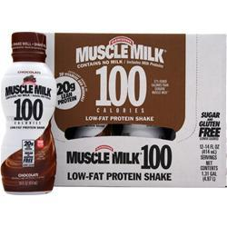 Cytosport Muscle Milk 100 Calorie RTD (14 fl.oz.) Chocolate 12 cans
