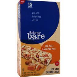 BALANCE BAR Balance Bare Bar Sea Salt Caramel Nut BEST BY 12/6/15 15 bars