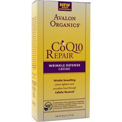 Avalon Organics CoQ10 Enzyme Skin Care Wrinkle Defense Creme 1.75 fl.oz