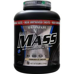 Dymatize Nutrition Elite Mass Cookies & Cream 6 lbs