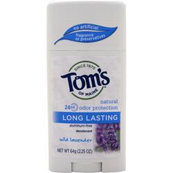 TOM'S OF MAINE Deodorant Stick Long-Lasting Care Wild Lavender 2.25 oz