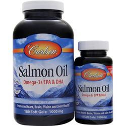 Carlson Norwegian Salmon Oil (1000mg) 180+50 Shrink Wrap 230 sgels