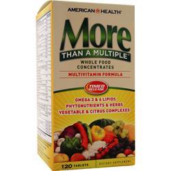 AMERICAN HEALTH More Than A Multiple - Multivitamin Formula 120 tabs