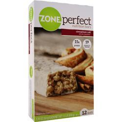 ZONE PERFECT Nutrition Bar Cinnamon Roll 12 bars