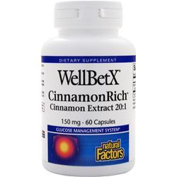Natural Factors WellBetX CinnamonRich 60 caps