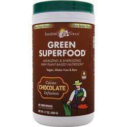 Amazing Grass Green Superfood Drink Powder Chocolate 17 oz
