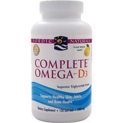NORDIC NATURALS Complete Omega-D3 Lemon 120 sgels