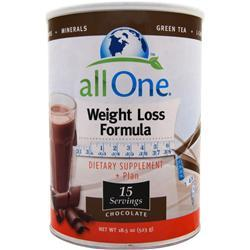 All One Weight Loss Formula Chocolate 14.8 oz