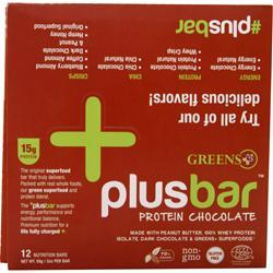 GREENS PLUS Plus Bar Protein Chocolate 12 bars