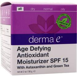 DERMA-E Age-Defying Moisturizer SPF 15 with Astaxanthin and Green Tea 2 oz