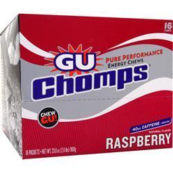 Gu Chomps Raspberry 16 pckts