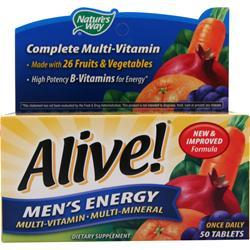 NATURE'S WAY Alive Men's Energy Multivitamin - Multimineral Caffeine-Free 50 tabs