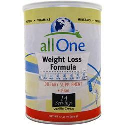 ALL ONE Weight Loss Formula Vanilla Cream 17.45 oz