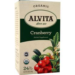 Alvita Tea Bags - Organic Cranberry 24 pckts