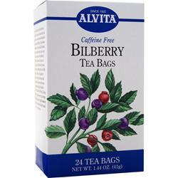ALVITA Tea Bags - Caffeine Free Bilberry 24 pckts