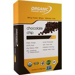 Organic Food Bar Raw Bar Chocolate Chip 12 bars