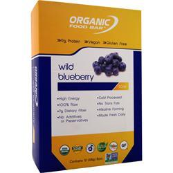 ORGANIC FOOD BAR Raw Bar Wild Blueberry 12 bars