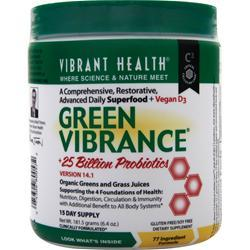 Once a day as a dietary supplement mix one (1) level scoops (enclosed) of Green Vibrance into 8 ounces of water or your favorite beverage. Stir briskly or shake briefly in a closed container until mixed.