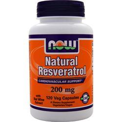 NOW Natural Resveratrol 120 vcaps