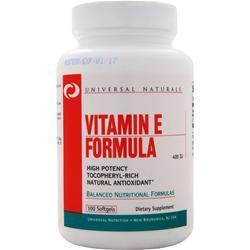 Universal Nutrition Vitamin E Formula (400IU) 100 sgels