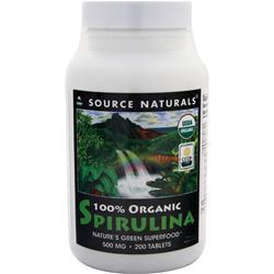 Source Naturals Organic Spirulina (500mg) 200 tabs