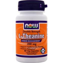 NOW L-Theanine - Double Strength (200mg) 60 vcaps