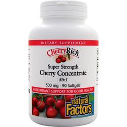 NATURAL FACTORS Cherry Rich - Super Strength Cherry Concentrate 36:1 90 sgels