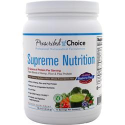 Prescribed Choice Supreme Nutrition - Triple Blend Protein with Greens for Nutritional Support Blueberry 518 grams