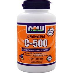 NOW Chewable C-500 Cherry-Berry 100 tabs