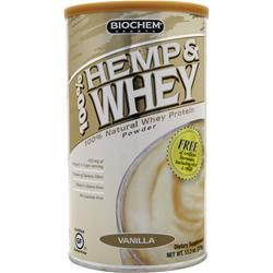 BIOCHEM 100% Hemp & Whey Vanilla 13.3 oz