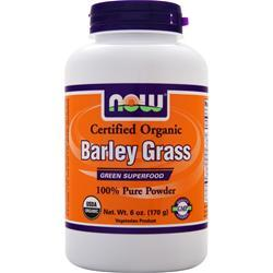 Now Barley Grass Powder - Certified Organic 6 oz