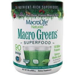 Macrolife Naturals Macro Greens (powder) 30 oz
