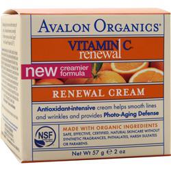 AVALON ORGANICS Intense Defense with Vitamin C Renewal Cream 2 oz