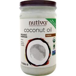 Nutiva Organic Virgin Coconut Oil Liquid Glass Jar 23 fl.oz