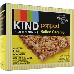 Kind Healthy Grains Bar Popped Salted Caramel BEST BY 5/10/17 5 bars