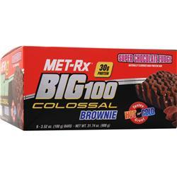 MET-RX Big 100 Colossal Brownie Bar Super Chocolate Fudge 9 bars