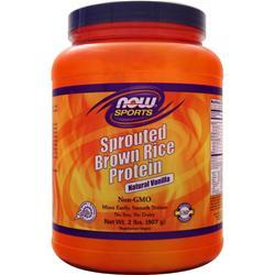 NOW Sprouted Brown Rice Protein Vanilla 2 lbs
