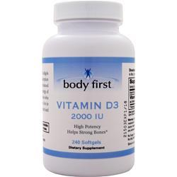 Body First Vitamin D3 (2000IU) 240 sgels