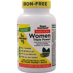 Super Nutrition Simply One Women - One-Per-Day (Iron Free) 90 tabs