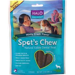 HALO Spot's Chew - Natural Edible Dental Treat Minty Fresh 7 chews