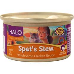 Halo Spot's Stew for Cats Wholesome Chicken 3 oz