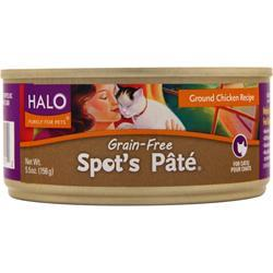 HALO Spot's Pate For Cats Ground Chicken 5.5 oz