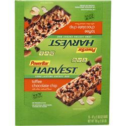 PowerBar Harvest Bar Toffee Chocolate Chip 15 bars
