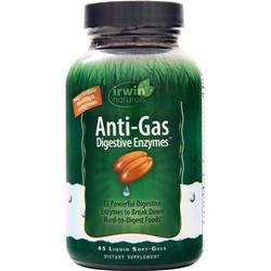 Irwin Naturals Anti-Gas Digestive Enzymes 45 sgels